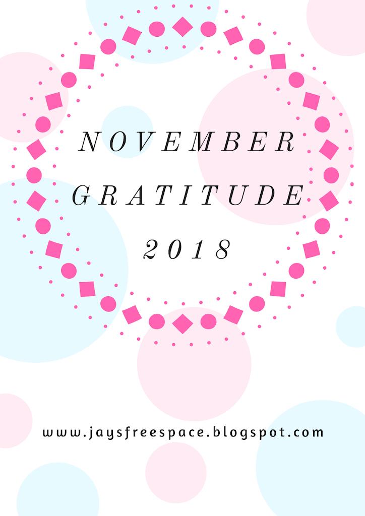 November Gratitude 2018
