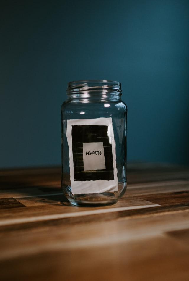 One last time in a room is a memory of a girl who lived in a house for 22 years. The image depicts all her memories in a bottle